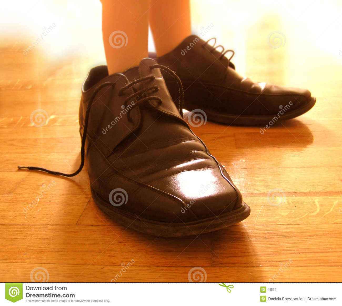 Download Small feet in big shoes stock image. Image of daughters, feet - 1999