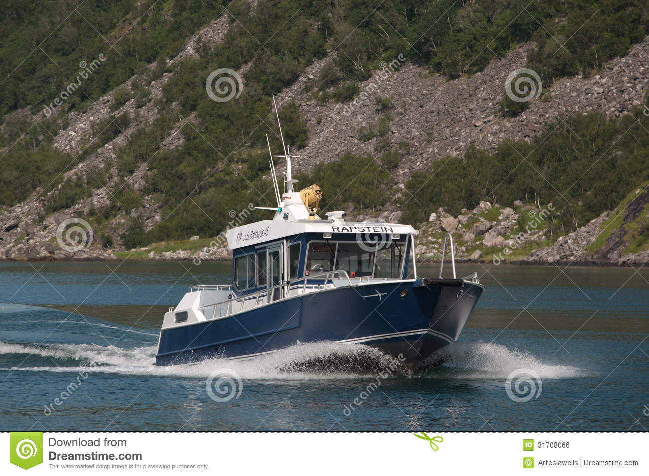 Small Ferry Boat Editorial Photo - Image: 31708066