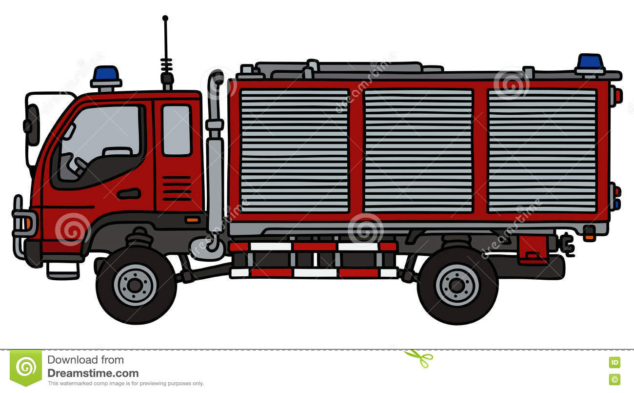 small fire truck stock vector illustration of patrol 76180701