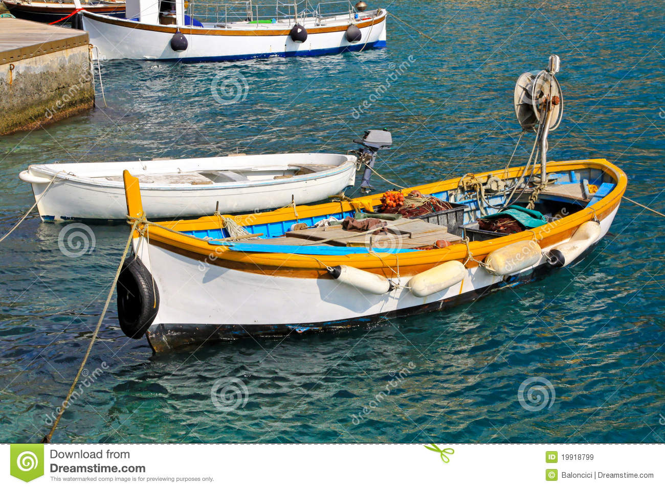 Small Fishing Boat Royalty Free Stock Images - Image: 19918799