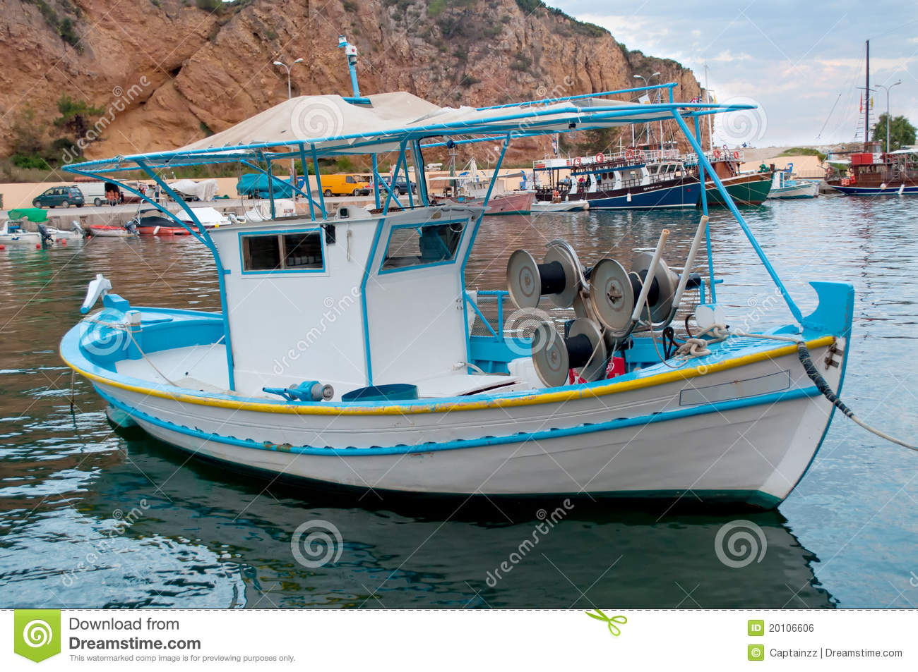 Small fishing boat stock photo image of nautical small for Little fishing boats
