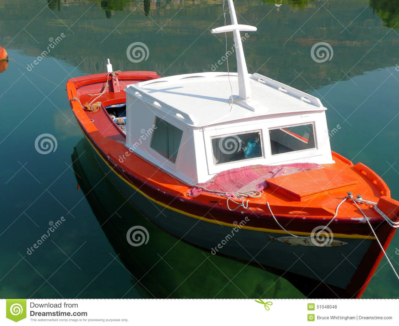Small Fishing Boat Stock Photo - Image: 51048048