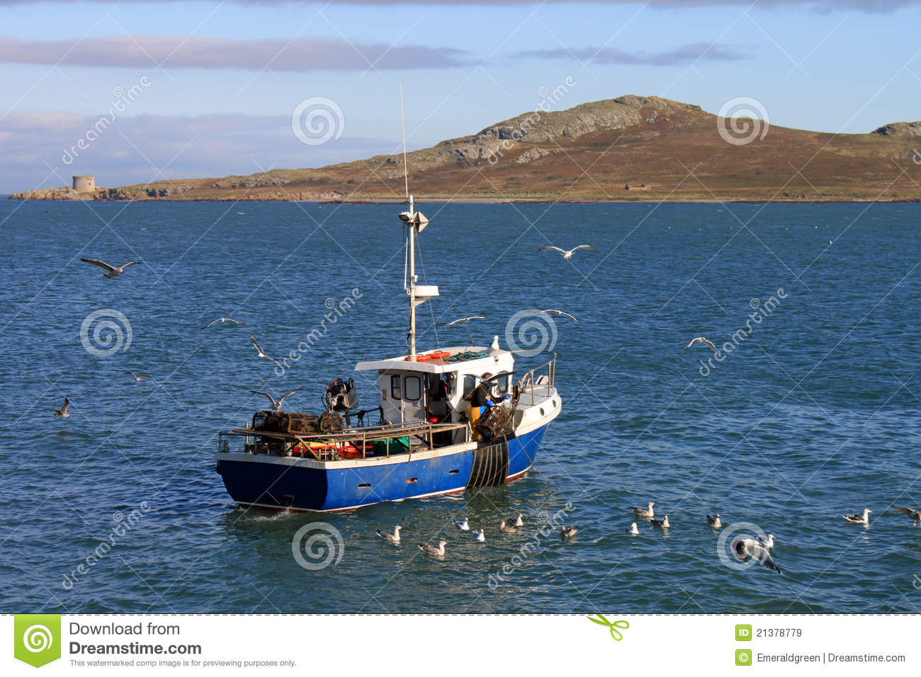 Small fishing boat howth stock image image of ireland for Little fishing boats