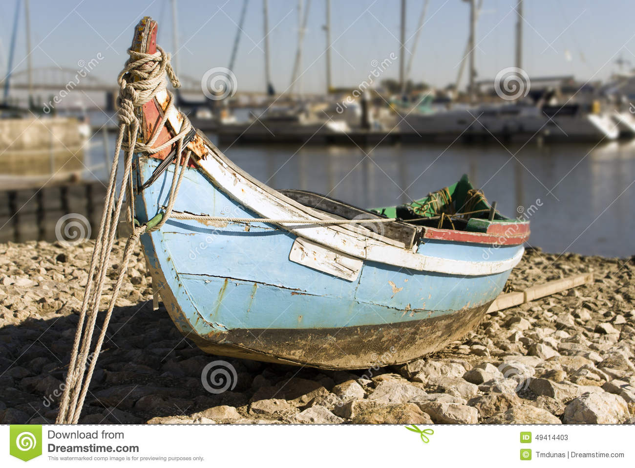 Small boat in shallow water in brittany france royalty for A small fishing boat
