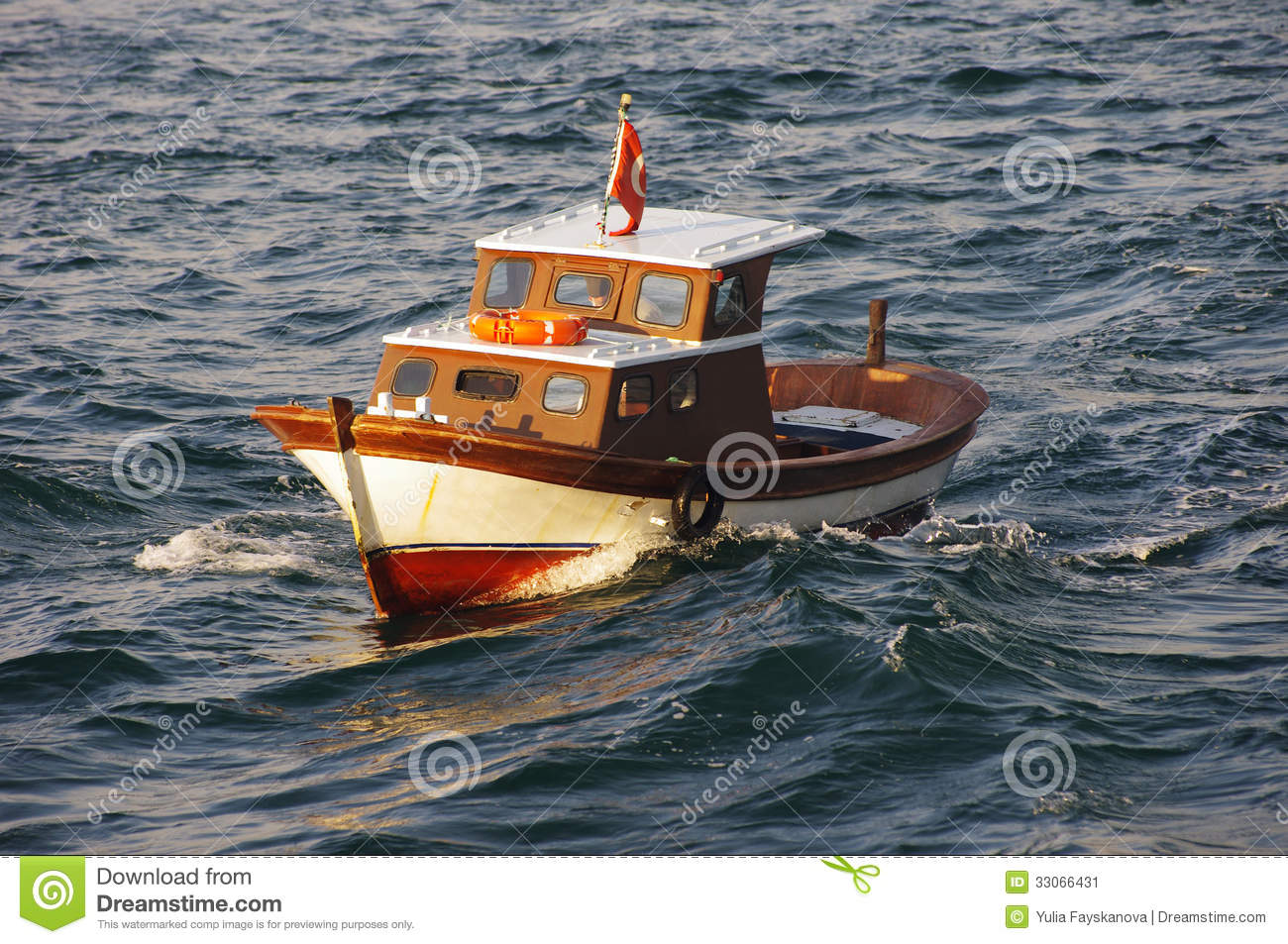 Small fishing boat in the marmara sea stock image image for Sea fishing boats