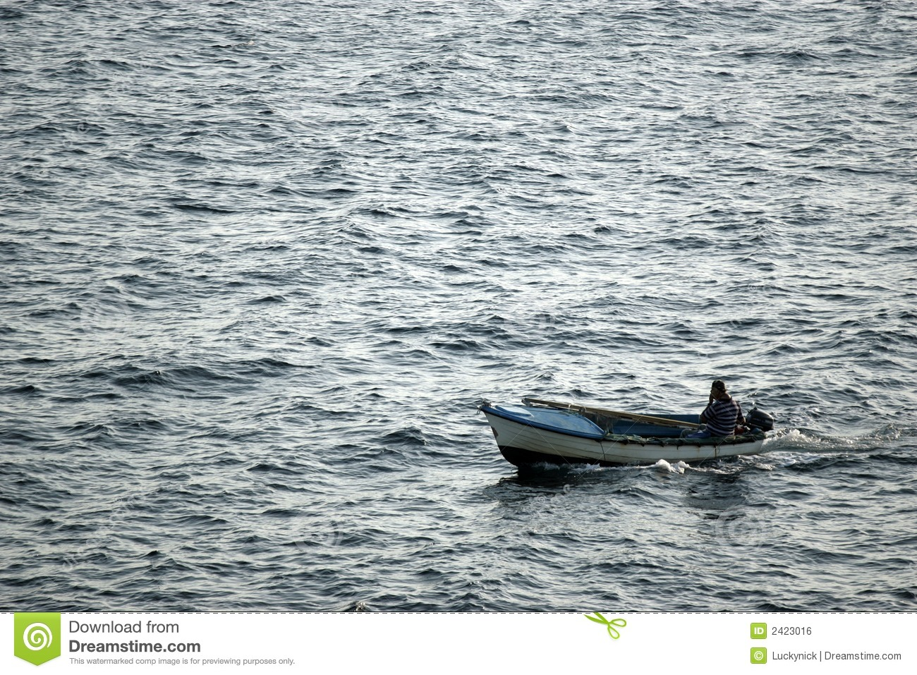 Small fishing boat at sea stock photo image of nautical for A small fishing boat
