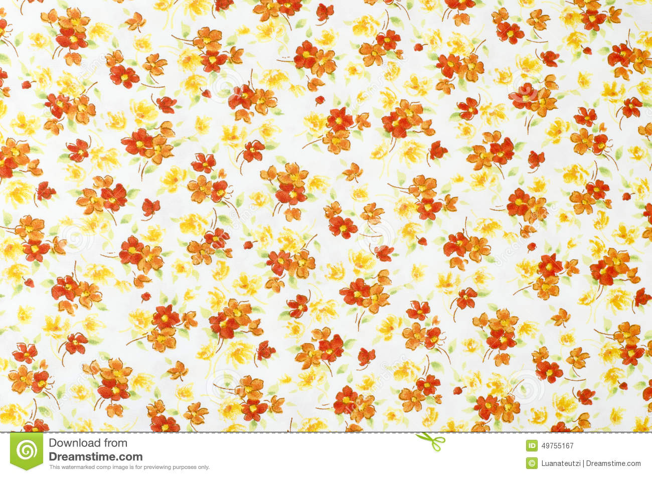 Small Floral Pattern On Fabric Stock Photo Image 49755167