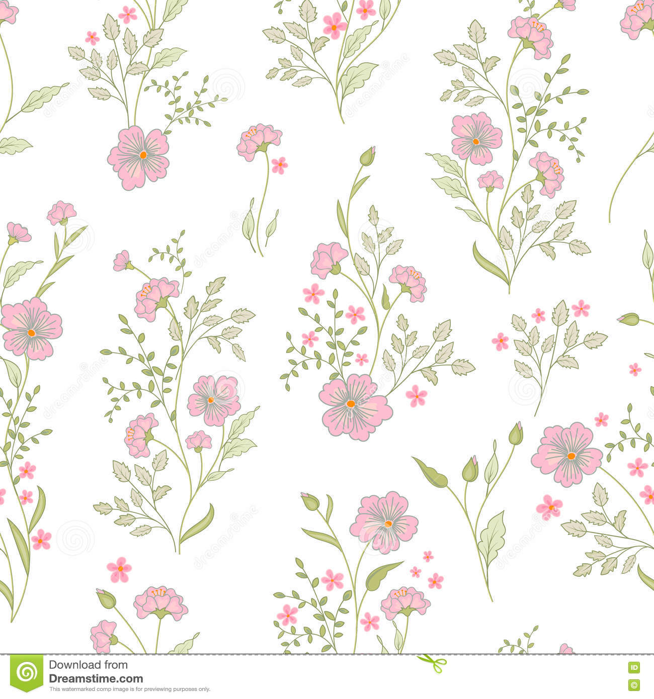 Small flower pattern vintage floral seamless background for Small flower designs