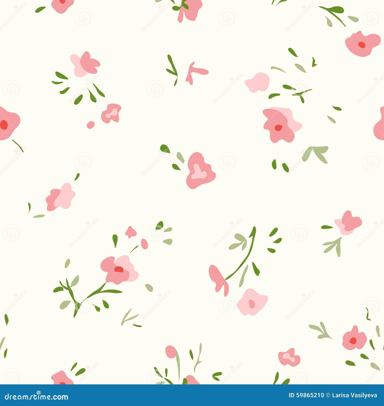 Small Flower Pattern Stock Vector. Illustration Of