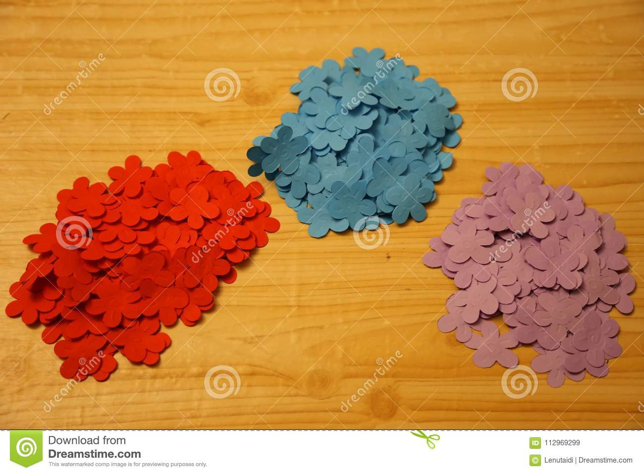 Small Flowers Of Colored Paper Stock Image Image Of Design Color
