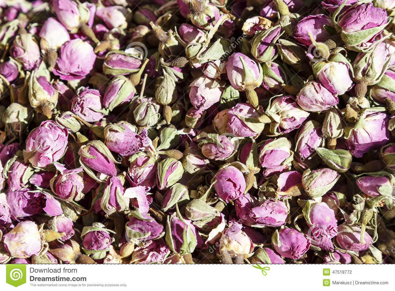 Small Flowers, Dried Roses Exposed For Sale Stock Photo - Image of ...