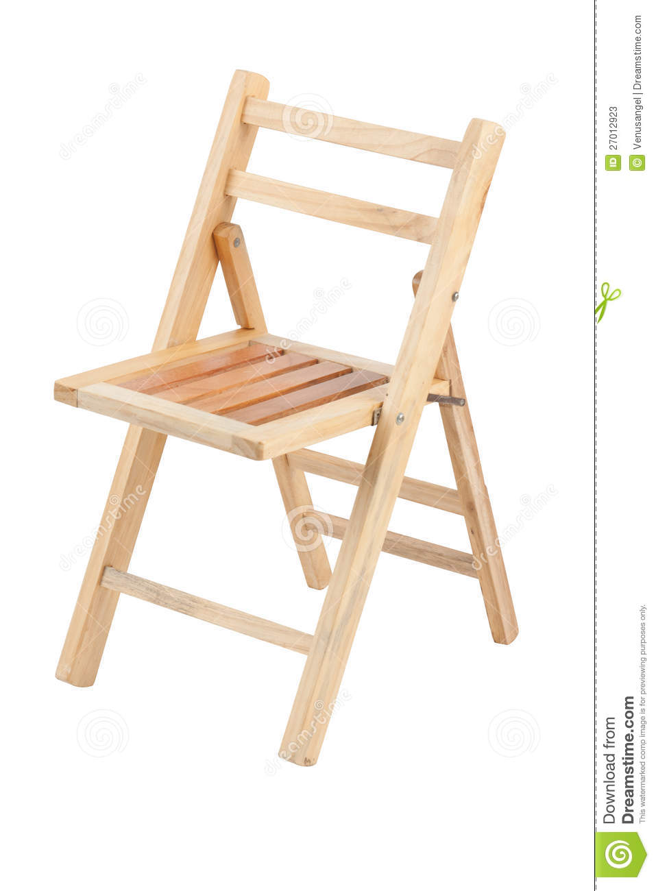Small Folding Wooden Chair Stock s Image