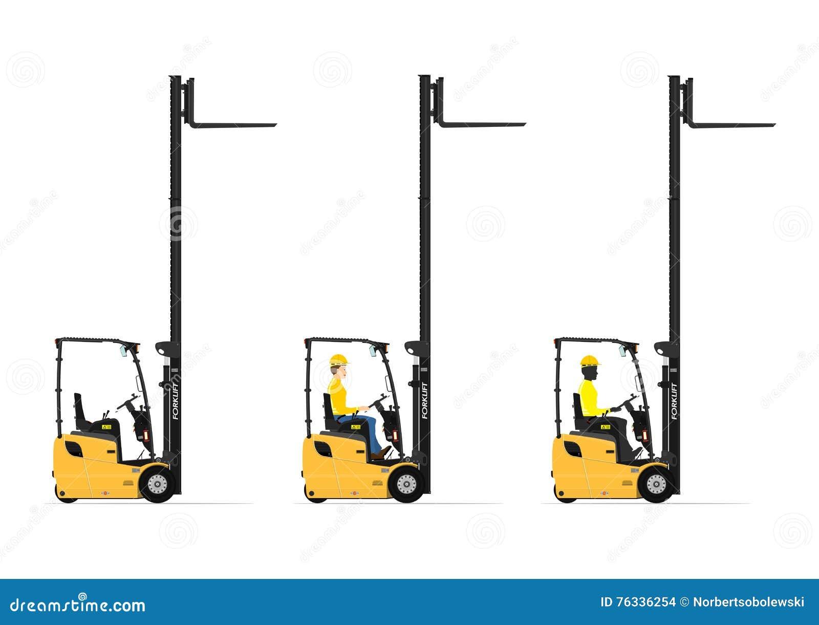 Small forklift stock vector  Illustration of construction