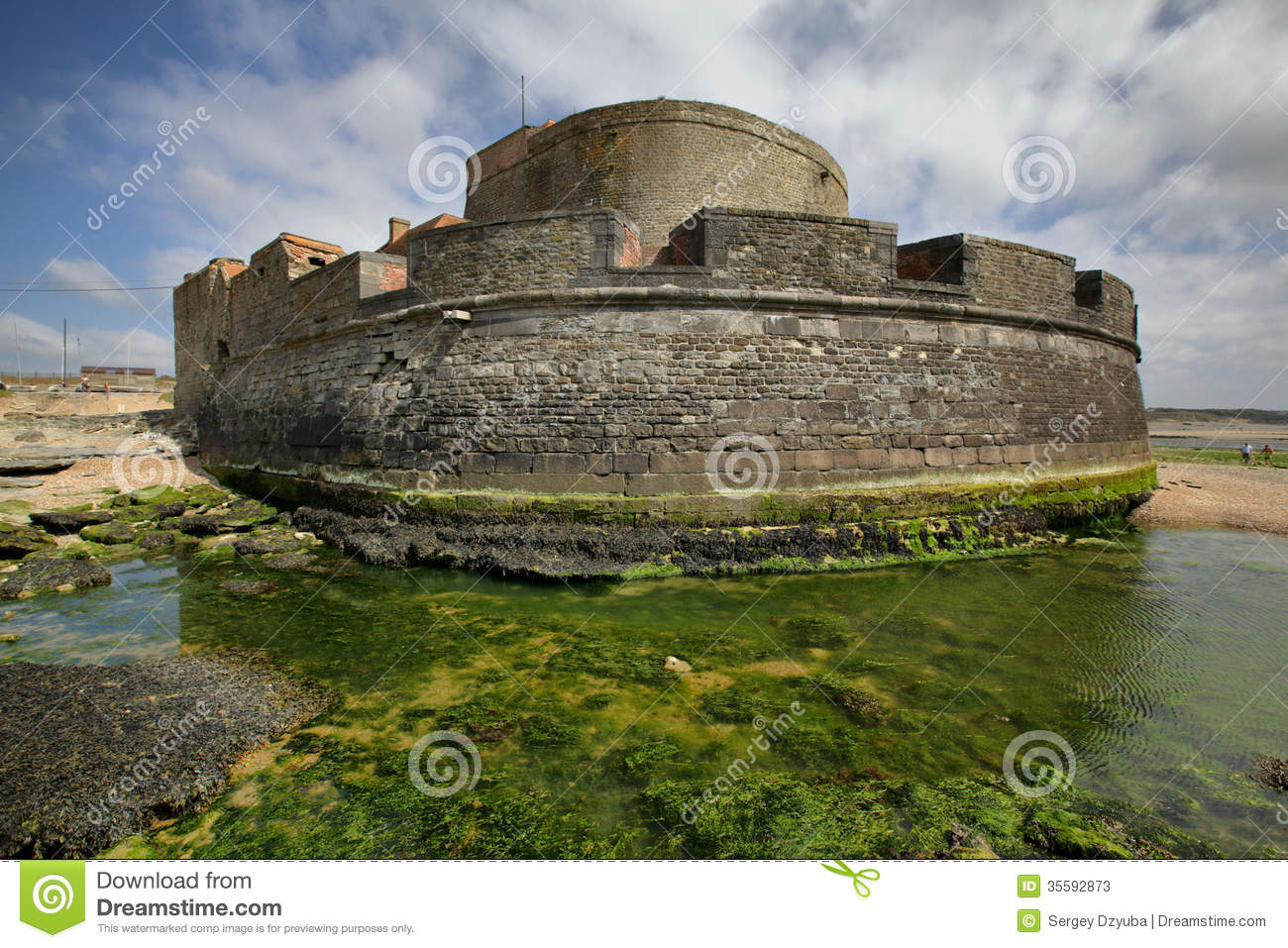 Small fort on the coast of english channel stock image - Tables decennales pas de calais ...