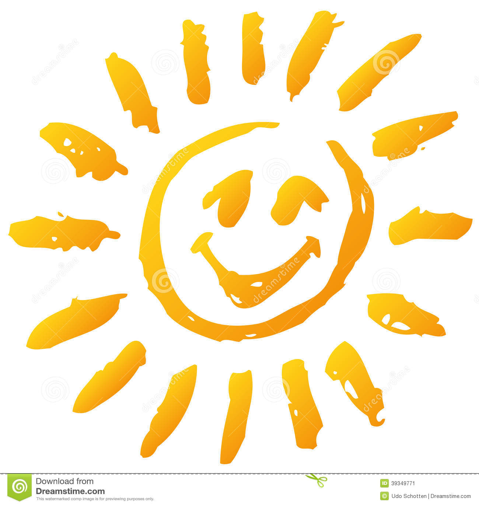small funny scribble of a sun stock vector image 39349771 Happy Face Sun Clip Art Free Flower Smiley Face Clip Art