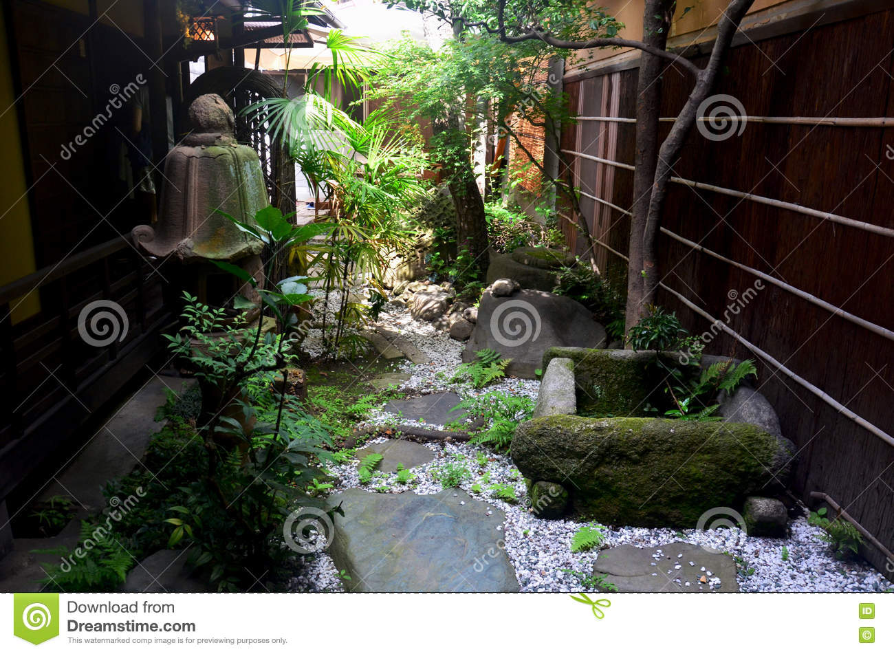 small garden japanese style stock photo image 78447174