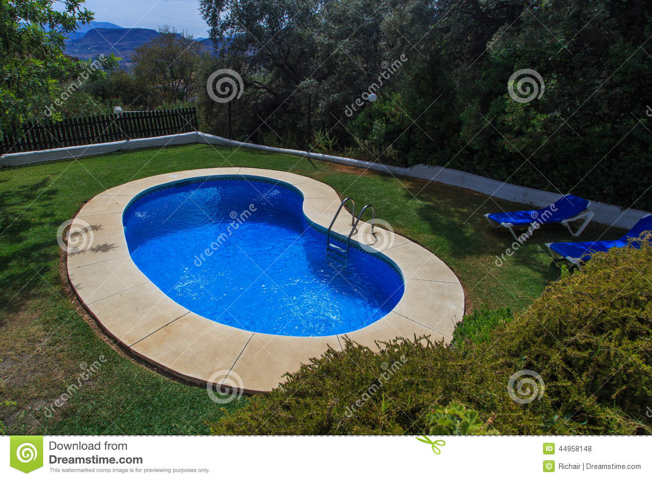 Small garden pool stock photo image 44958148 for Small swimming pools for gardens