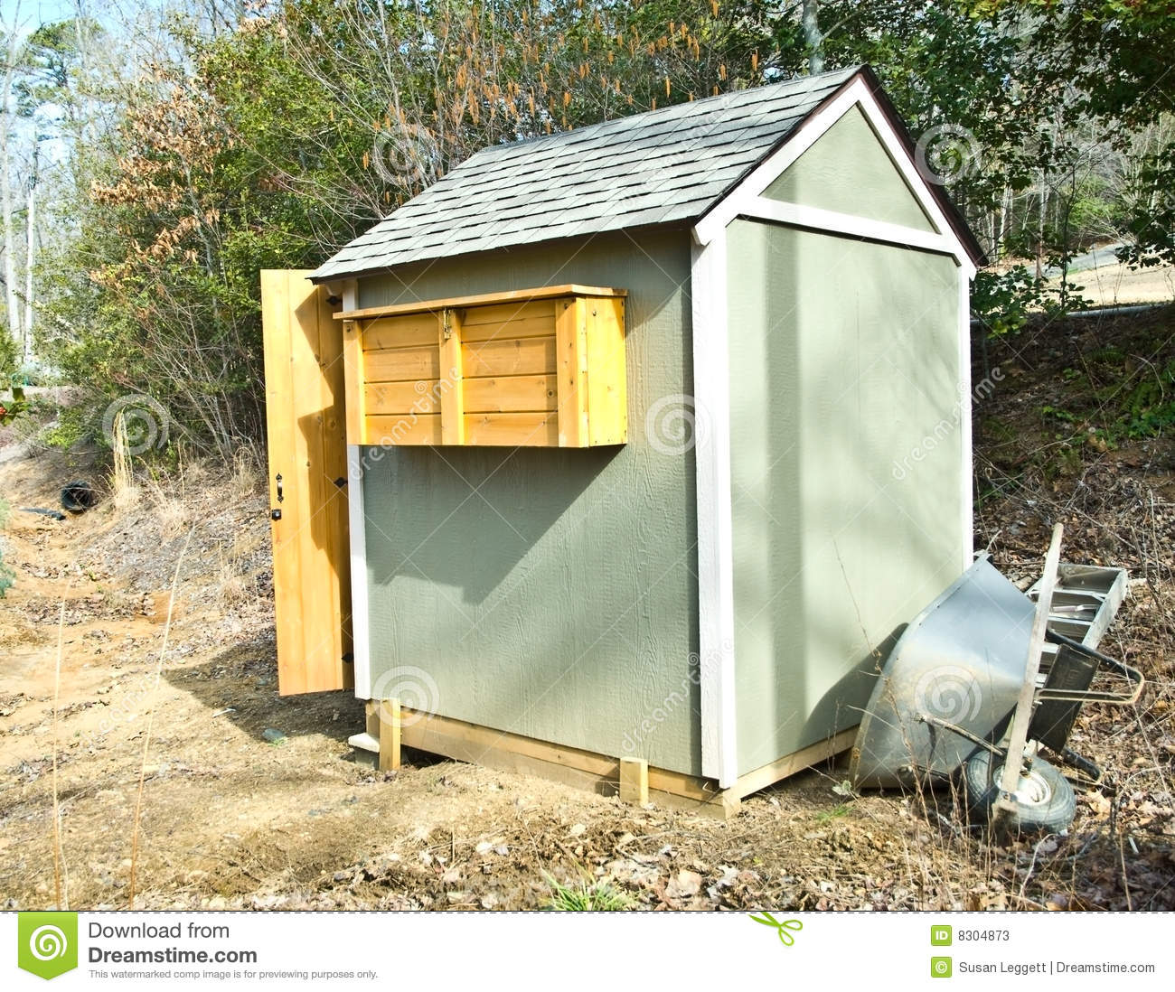 Small garden shed stock photos image 8304873 for Garden shed small