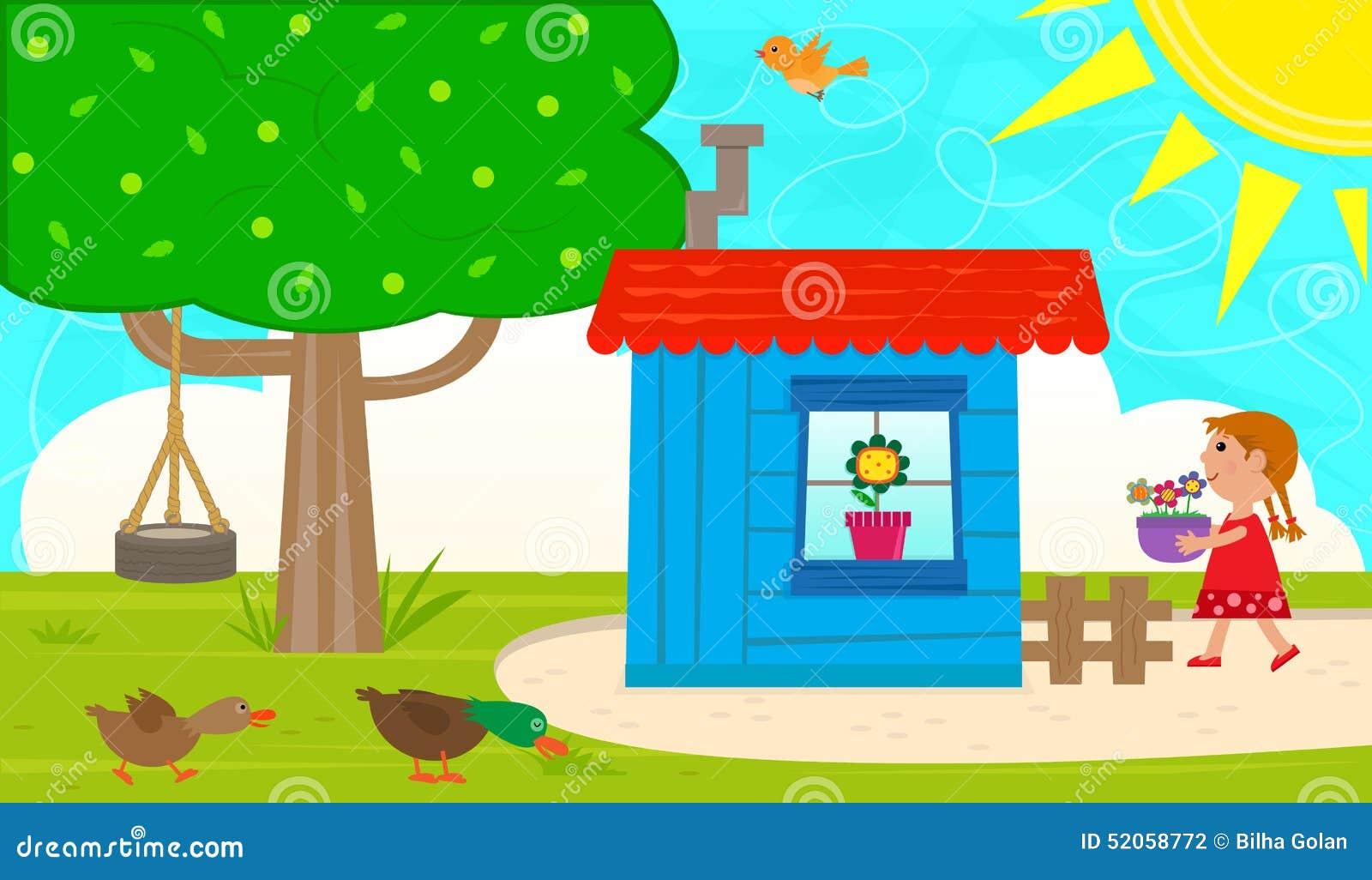 Small Garden Shed stock vector. Image of bird, spring - 52058772