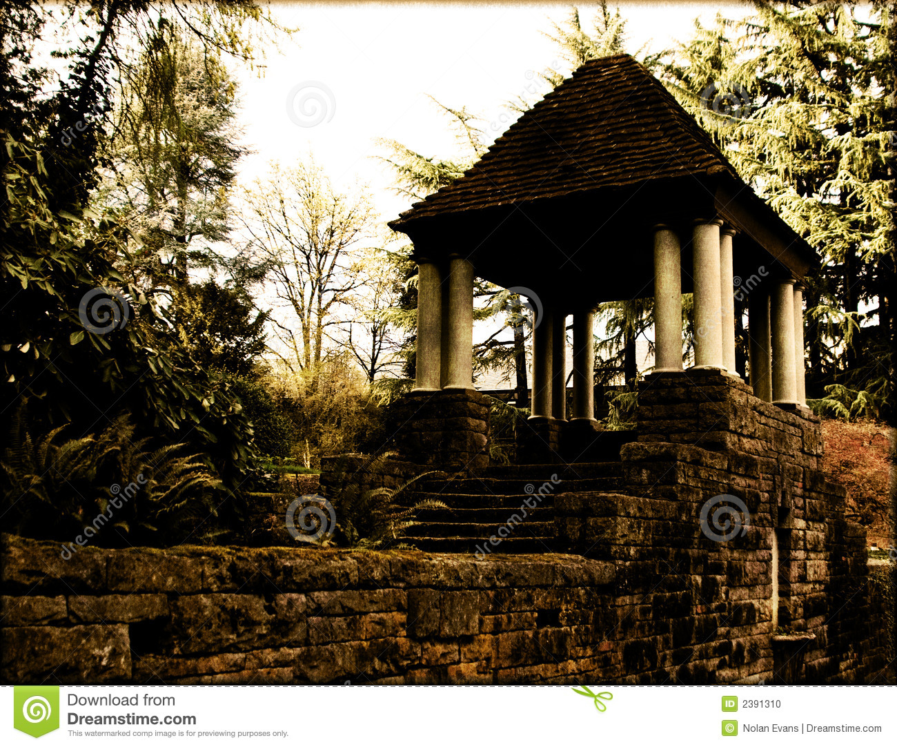 Small garden shelter stock photo image 2391310 for Small garden shelter