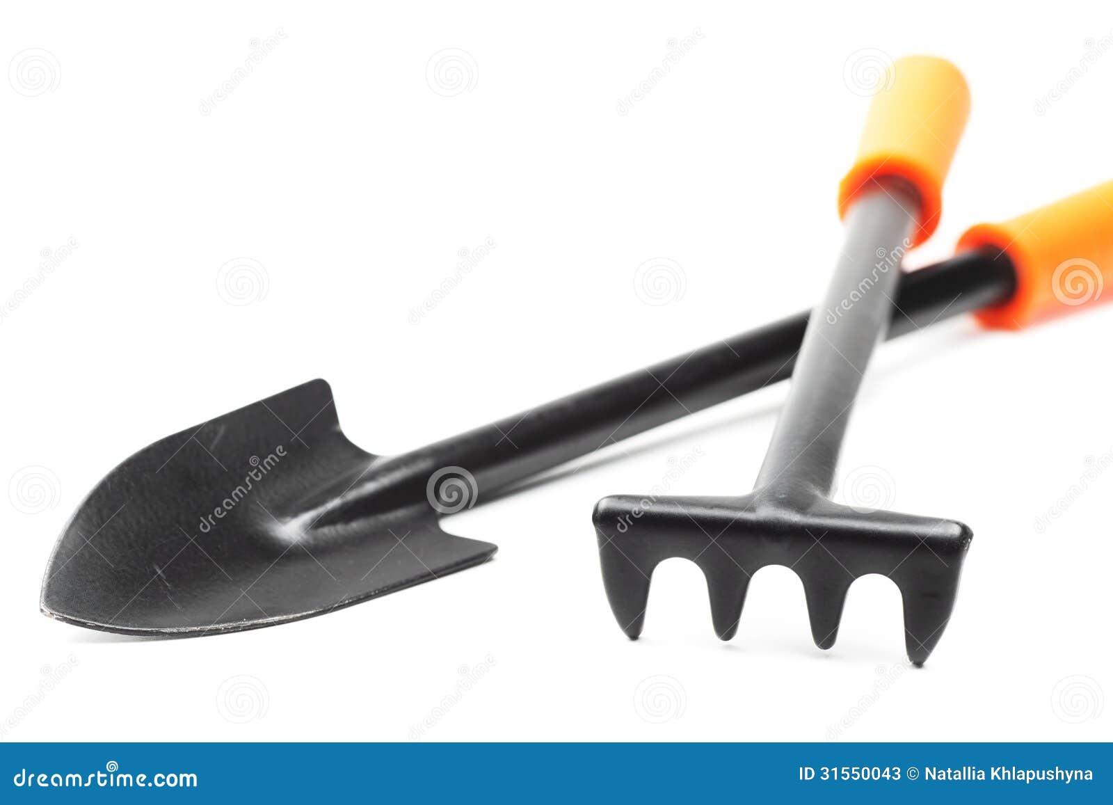 Small garden tools spade and rake stock photos image for Small rake garden tools