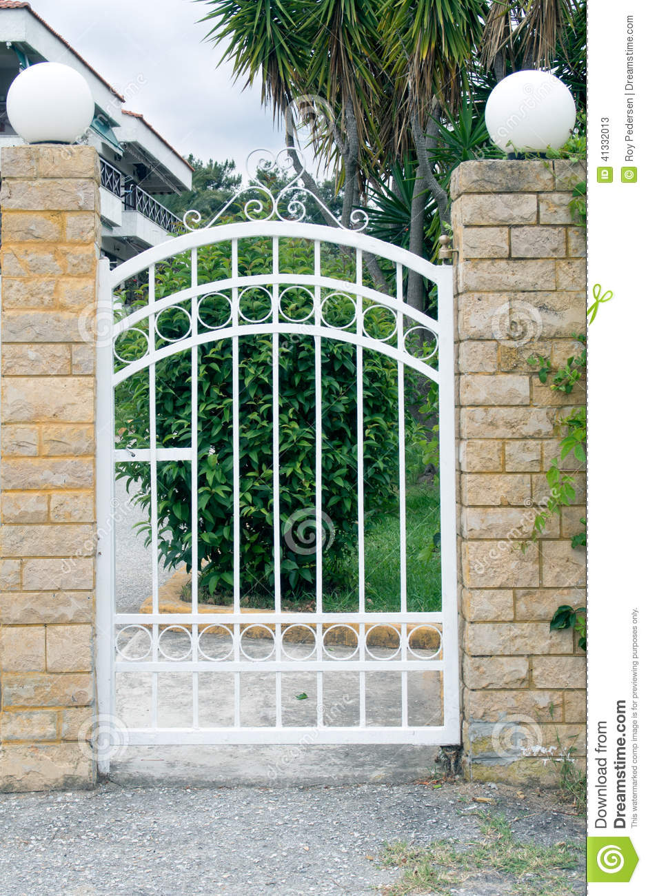 Stock Photo Small Gate Pedestrian Leading Up To House Image41332013 on German Style House Plans