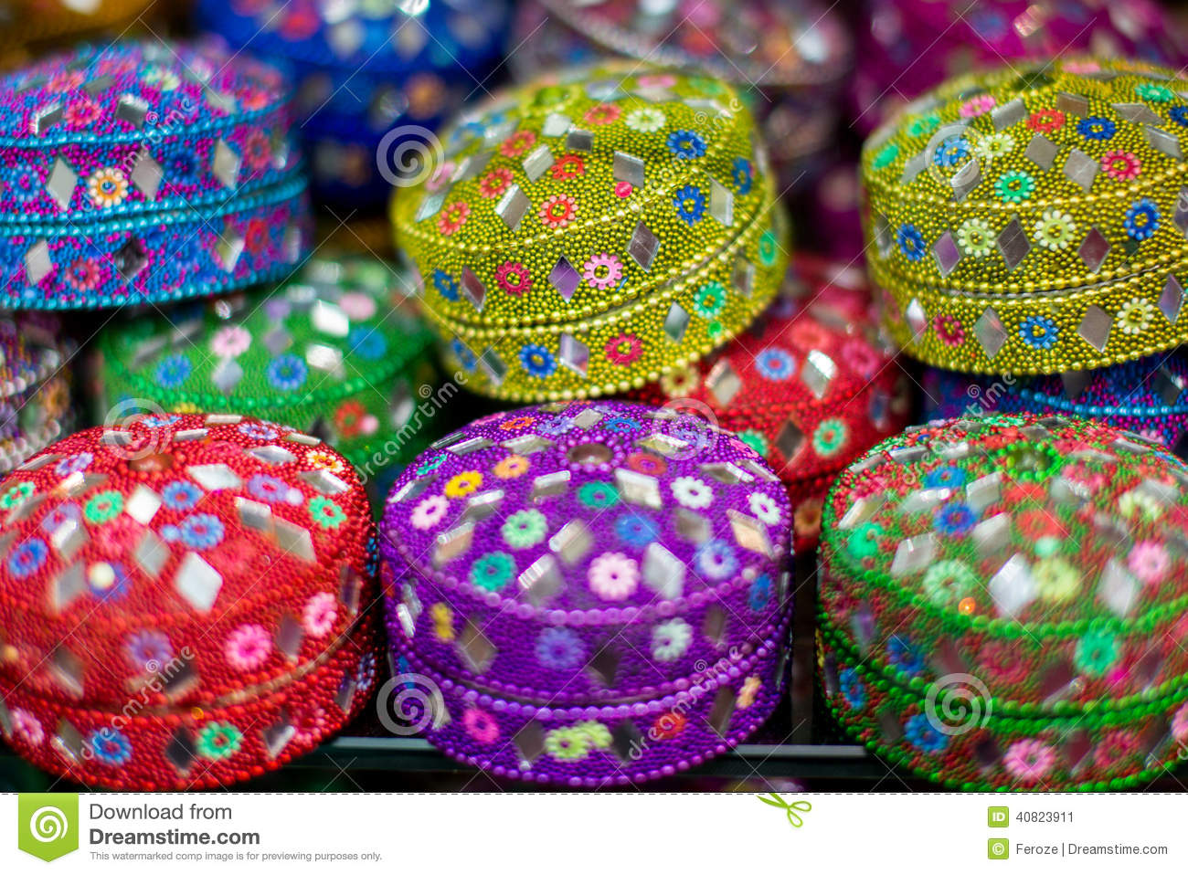 Small Gift Or Jewel Boxes In Dubai Stock Image Image Of Colourful