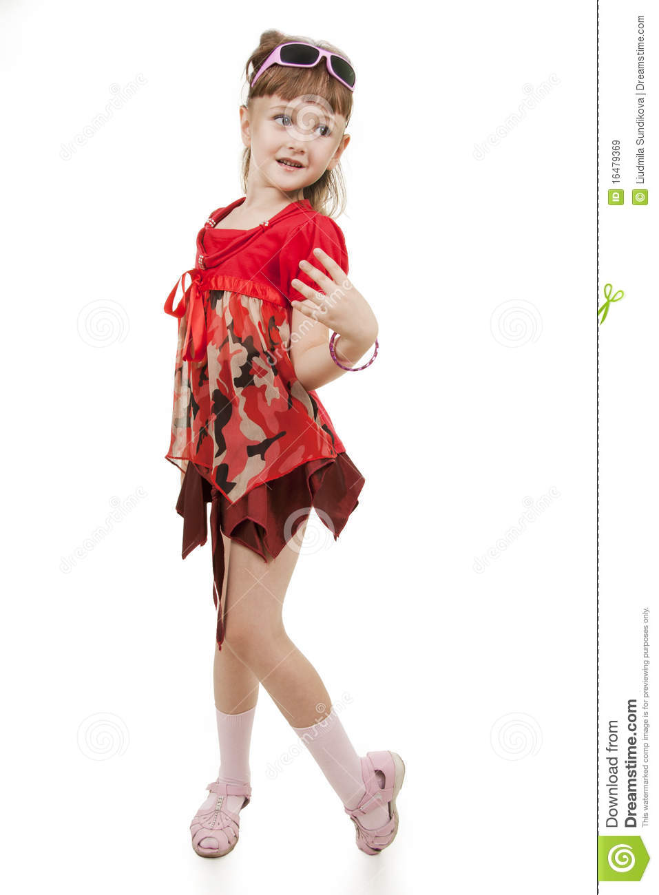 Small Girl Of Fashion Royalty Free Stock Images