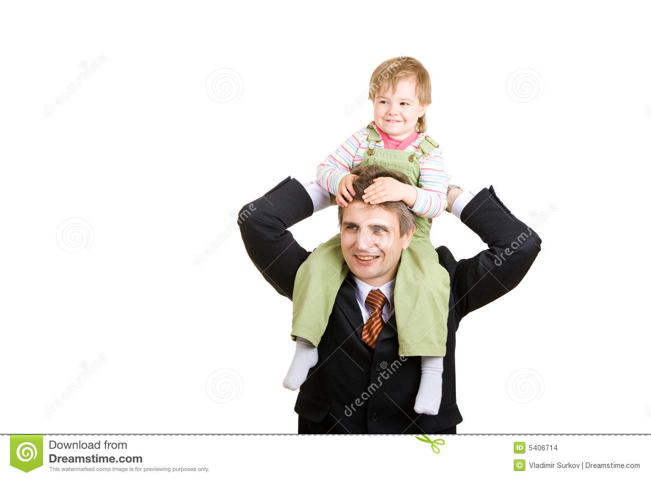 Small girl with father
