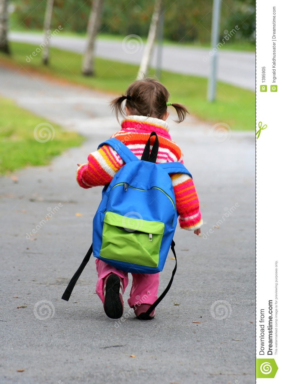 b942bbf02dcd Small girl large backpack stock image. Image of walk