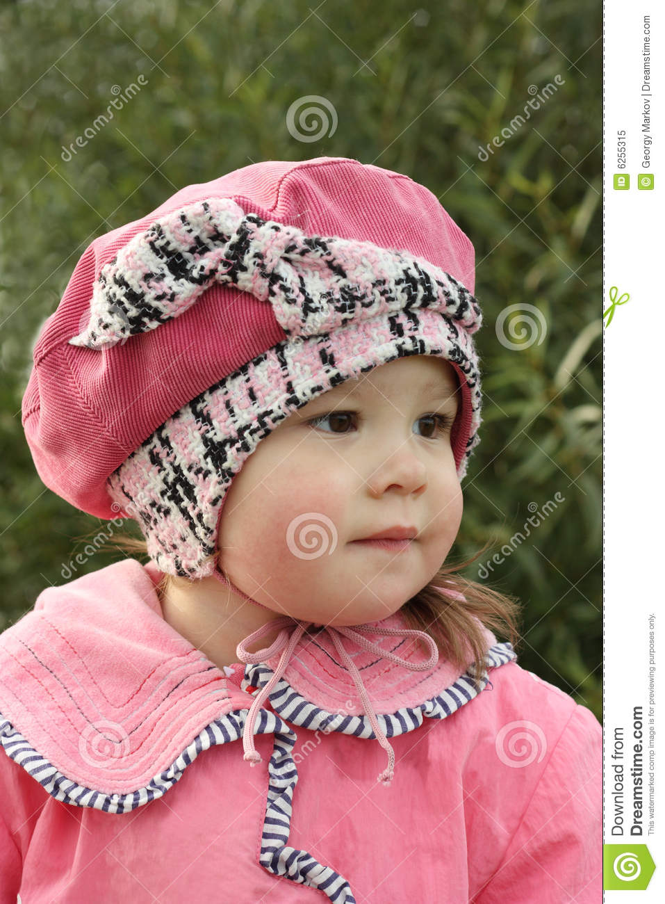 Small girl in pink