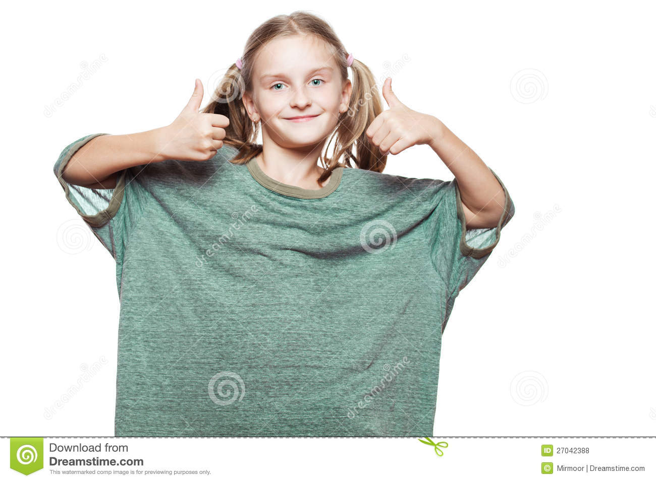 small girl wearing over sized t shirt royalty free stock