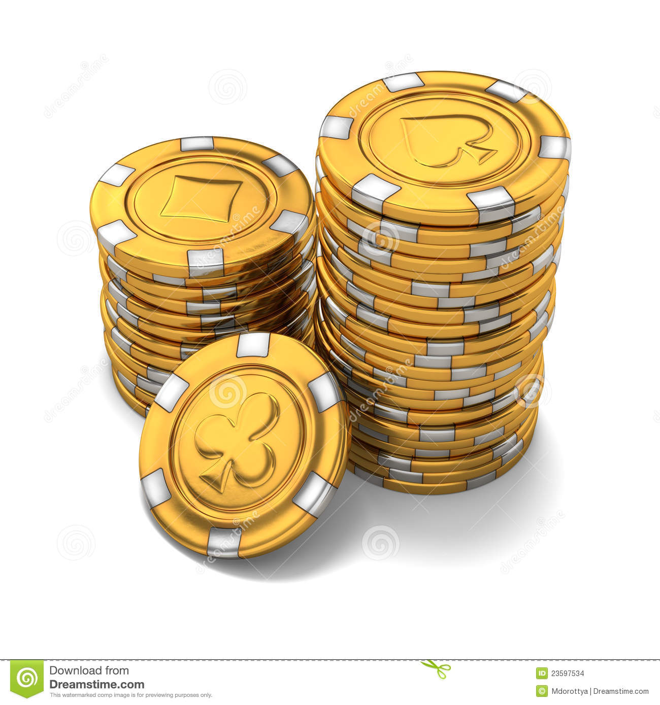 Gold Casino Chips