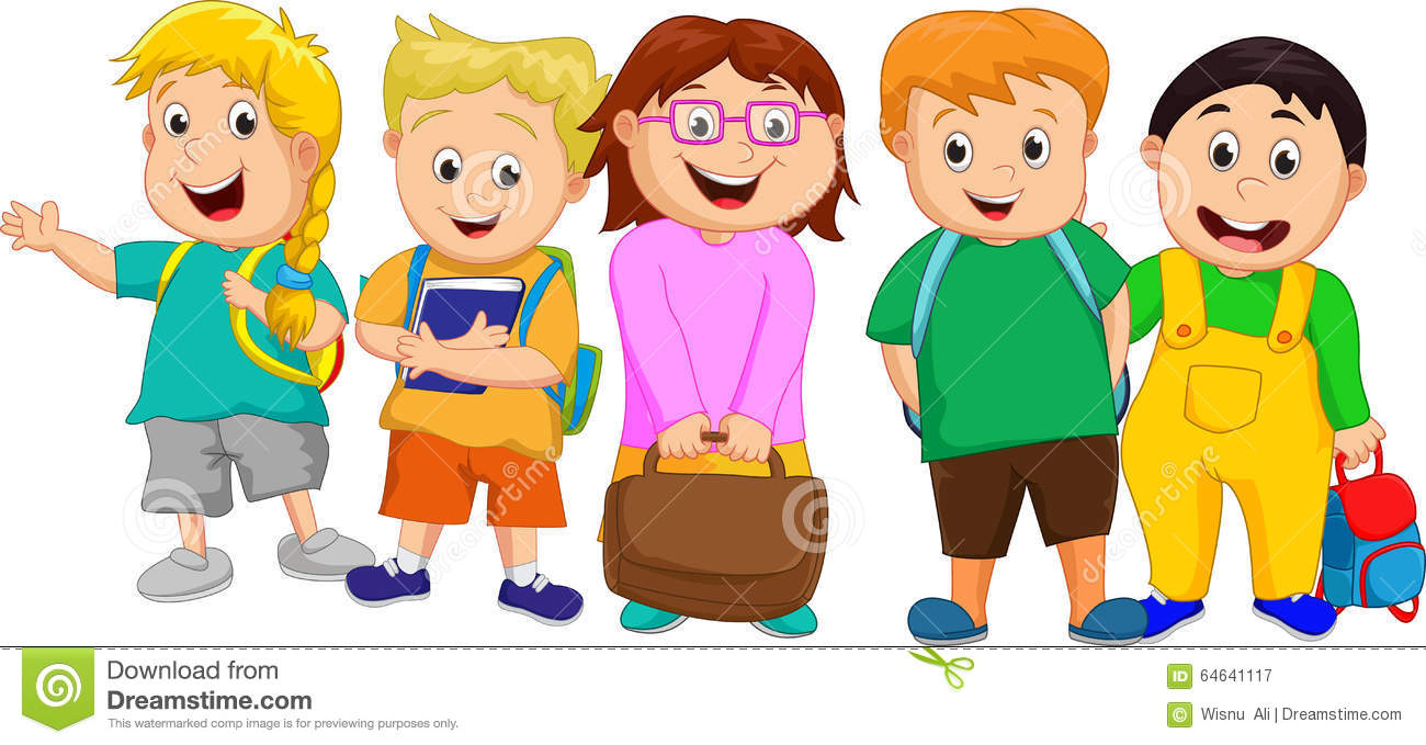 a small group of kids going to school stock vector image 64641117 group of people clip art png group of people clip art png