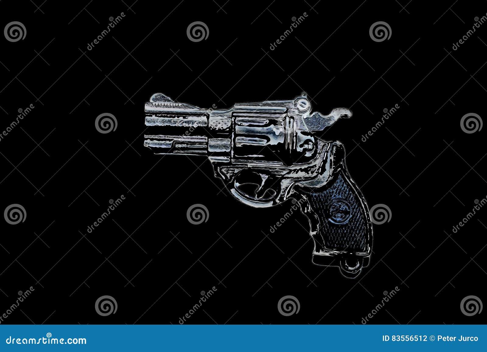 Download Small gun - model stock illustration. Illustration of metal - 83556512