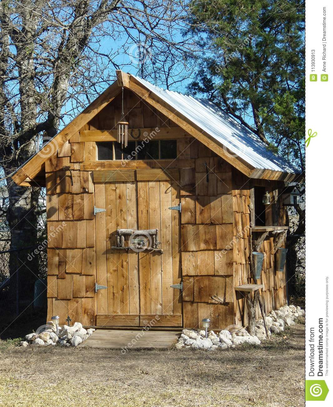 Small Hand-made Wooden Sugar Shack Garden Shed Stock Image - Image ...