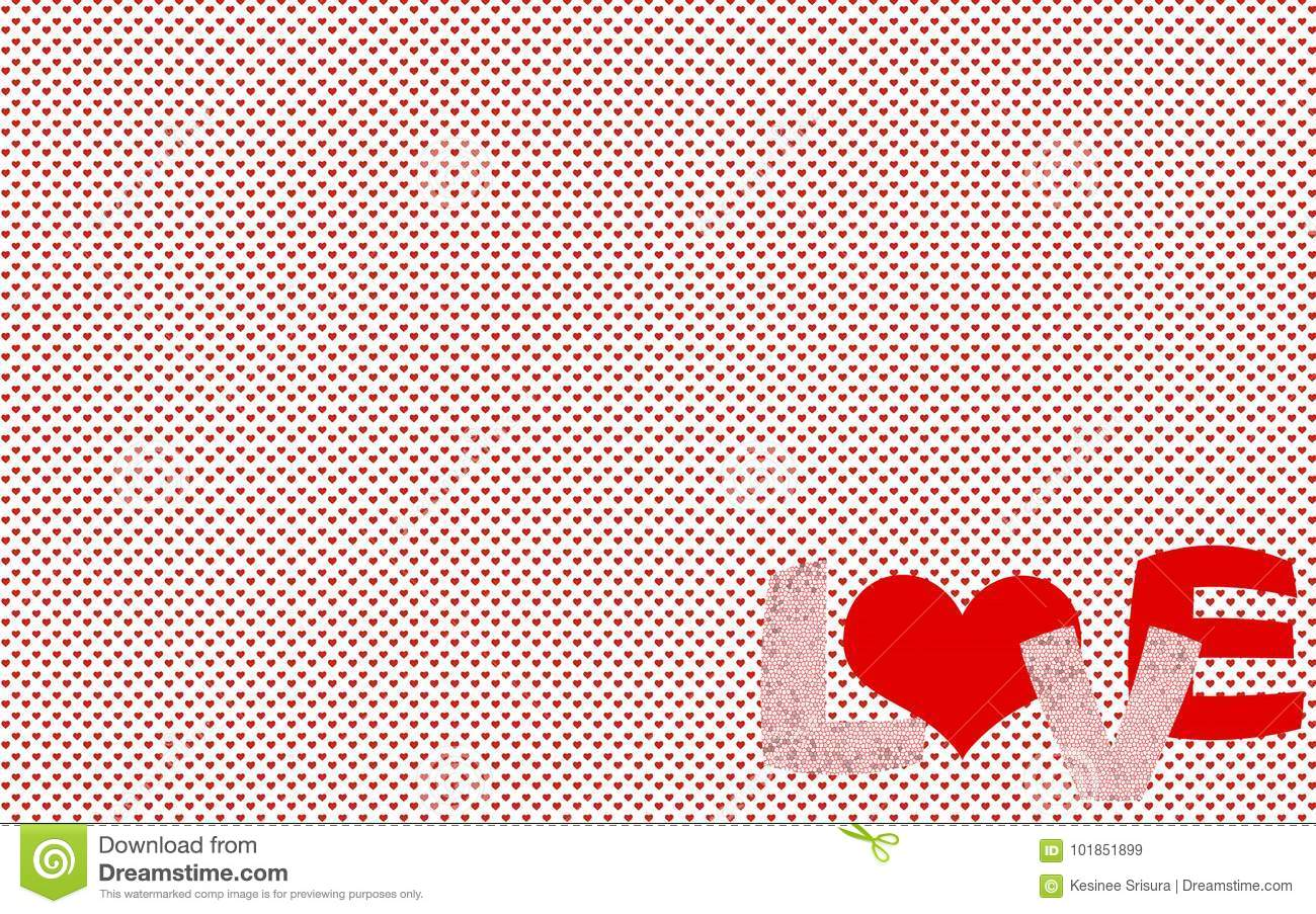 small heart pattern with the word love stock image image of