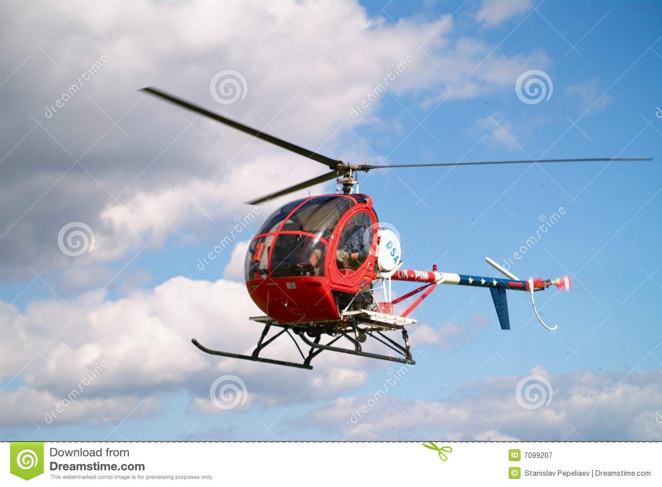 Small Helicopter Royalty Free Stock Photography - Image: 7099207