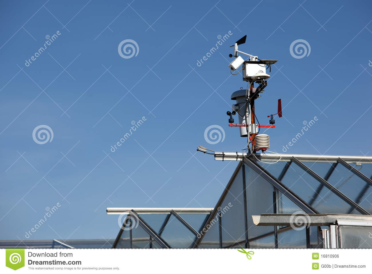 small hitech meteo station with anemometers stock photo image of climatology meteo 16810906. Black Bedroom Furniture Sets. Home Design Ideas