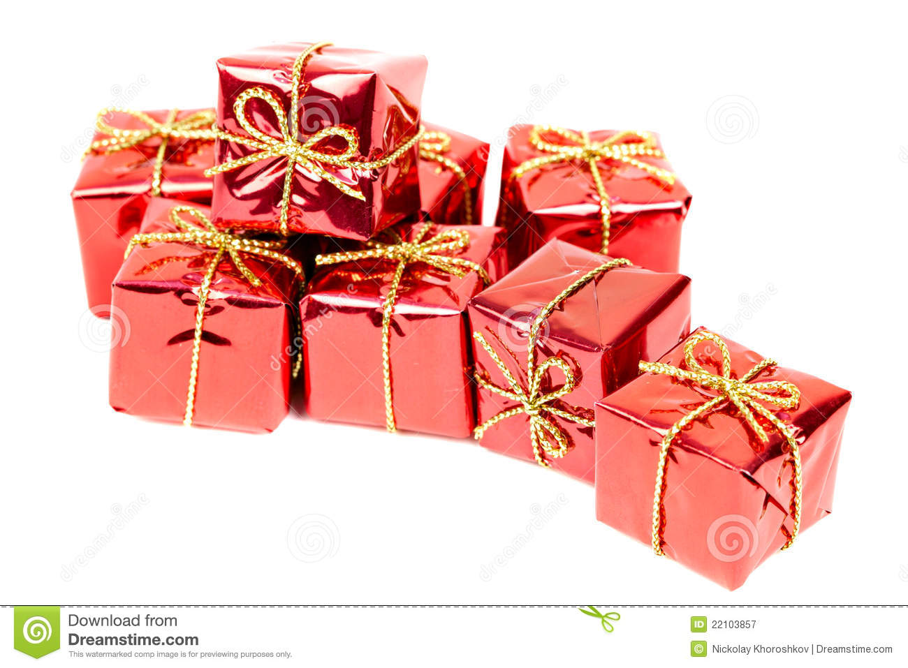 Small holiday gift boxes royalty free stock photography