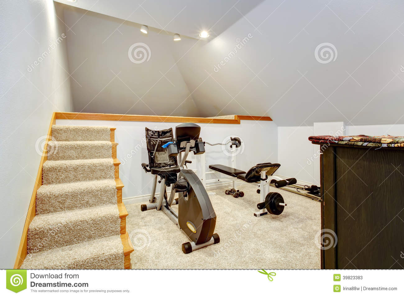 Small home gym area stock image image of home sport