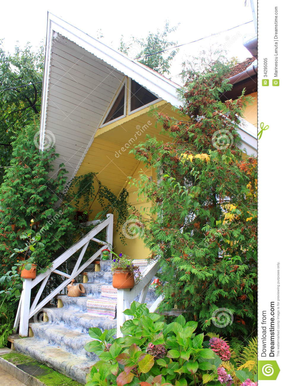 Small house side view royalty free stock photo image Small nice garden