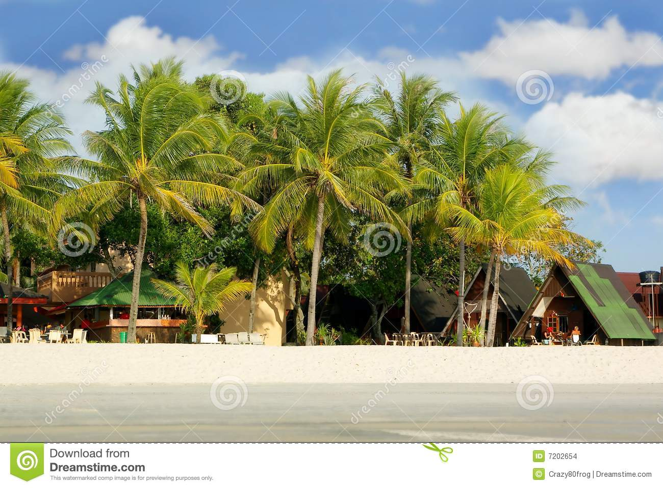 Small hotel on beach stock images image 7202654 for Small beach hotels