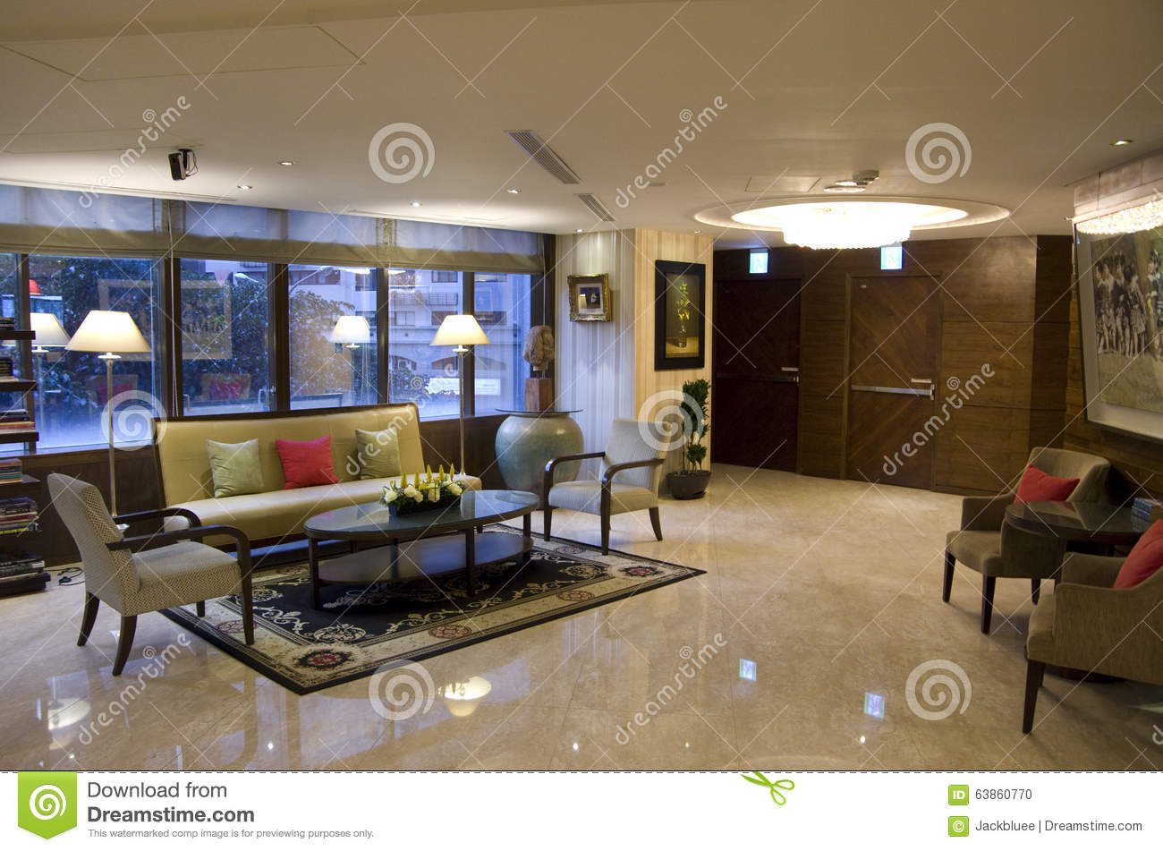 Small Hotel Lobby Stock Photo Image Of Interior Front 63860770