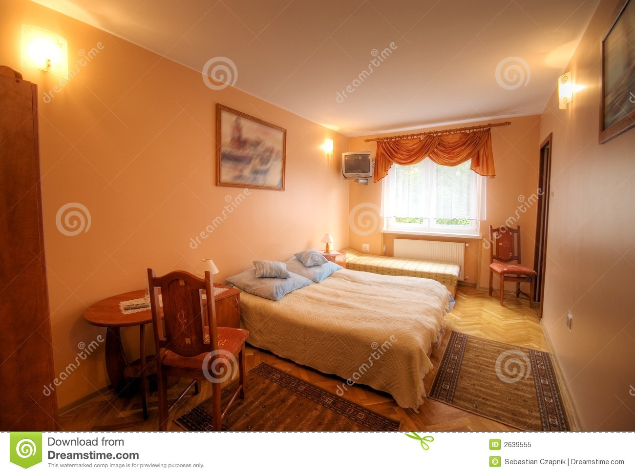 Small Hotel Room Royalty Free Stock Photo Image 2639555