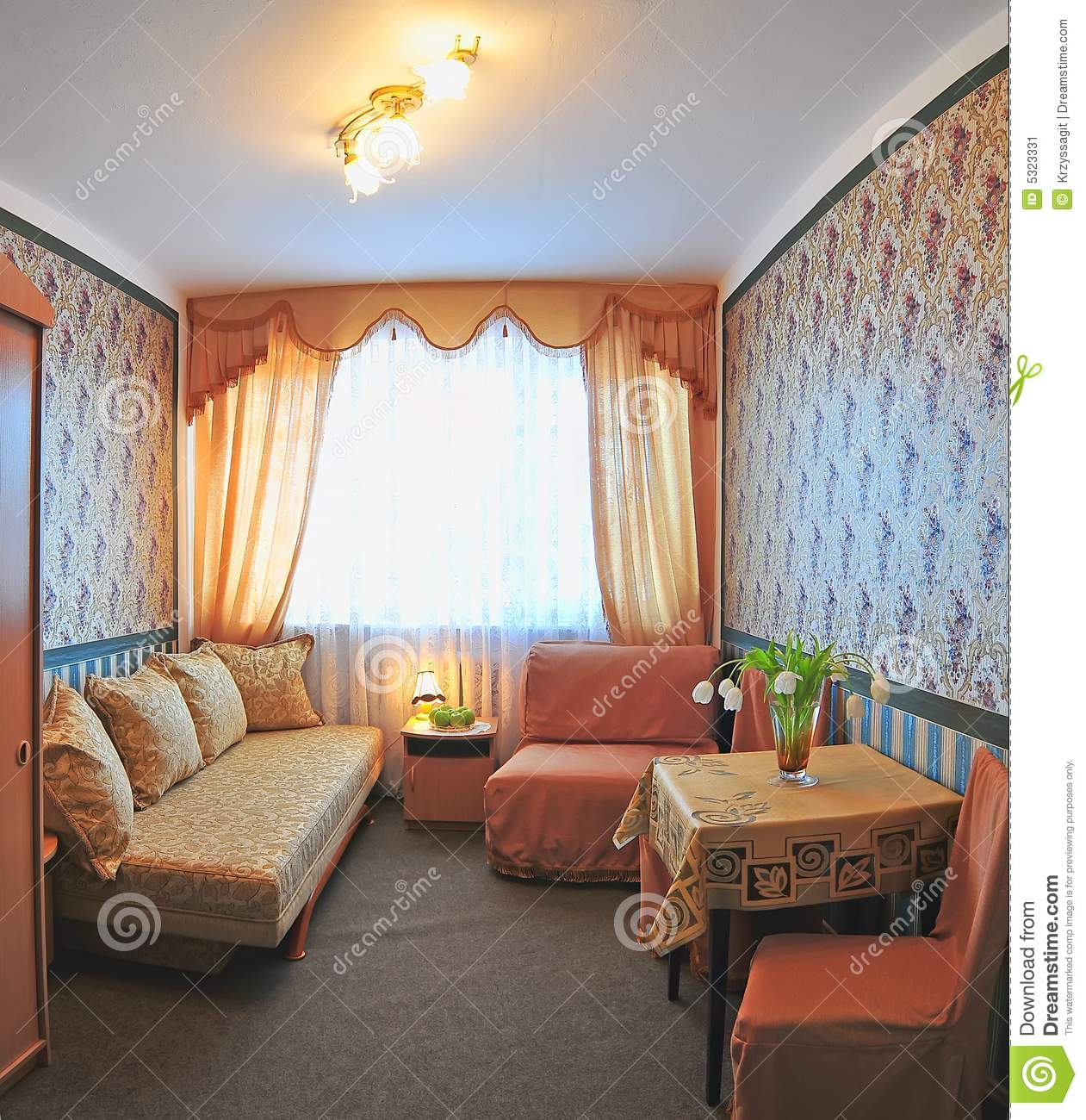 Small hotel room stock image image 5323331 for Small hotel room