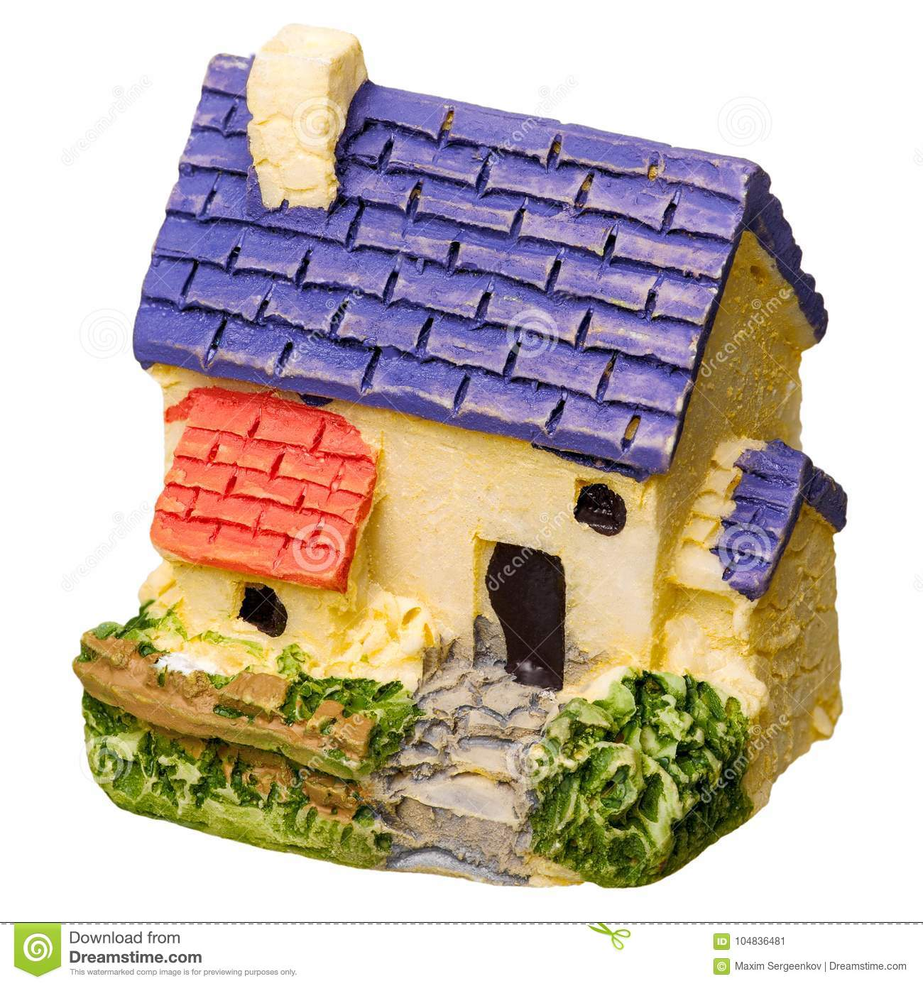 Small House From Ceramics Stock Image Image Of City 104836481