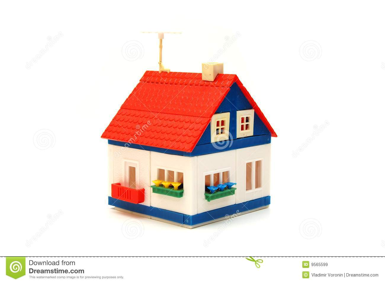 Small house constructed of toy blocks royalty free stock for Houses for small blocks