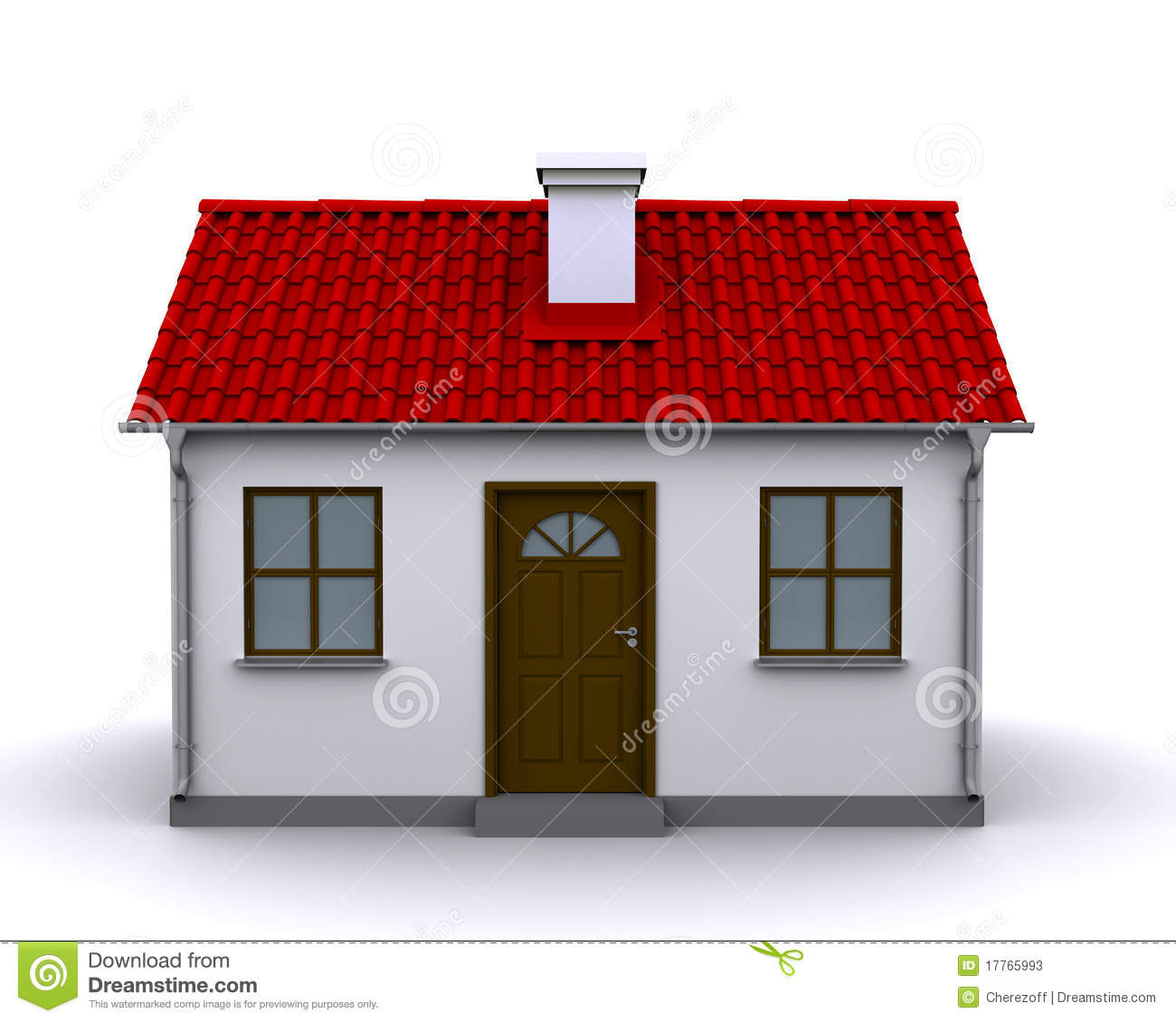 Small House Front View Editorial Stock Photo