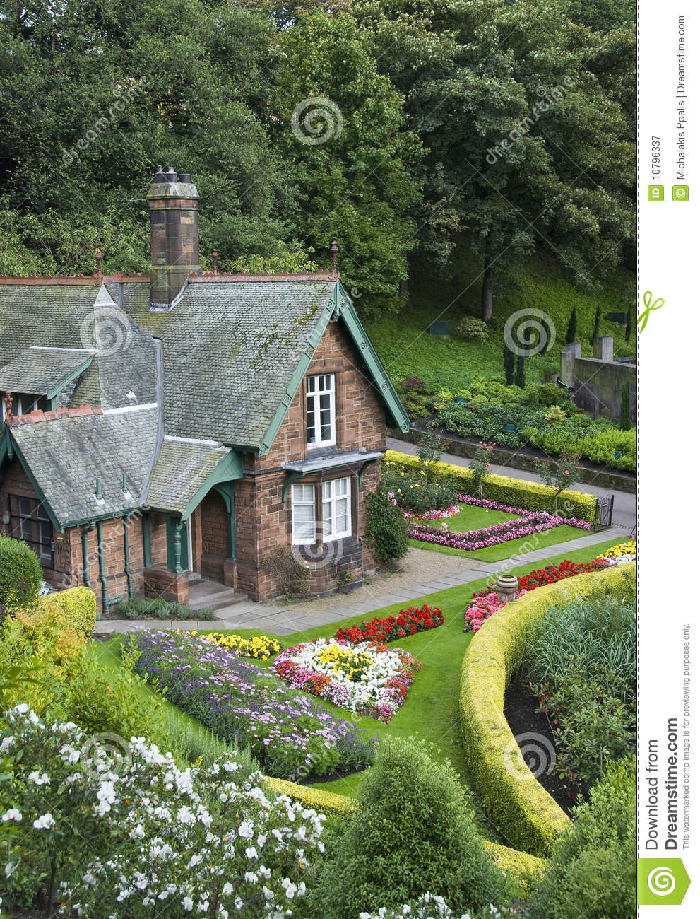 Superb Small House With Garden Royalty Free Stock Photography Image Largest Home Design Picture Inspirations Pitcheantrous